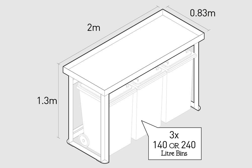 bindock triple external dimensions