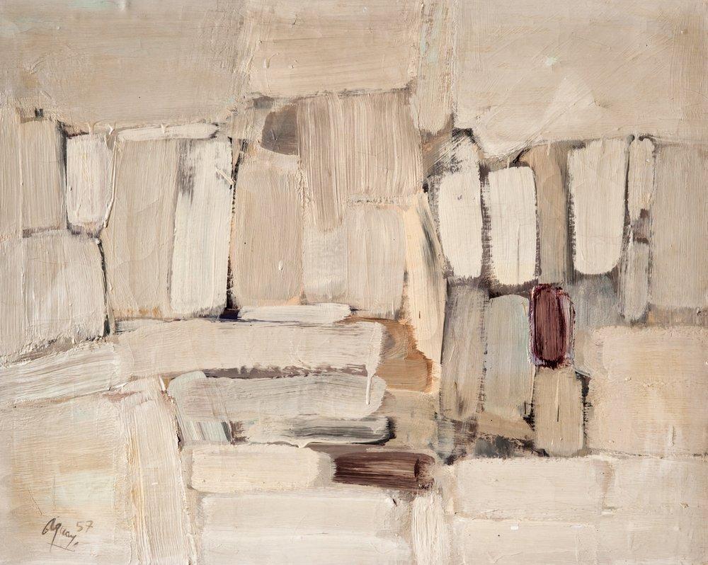 """Fermin Aguayo """"Sans titre"""", 1957"""