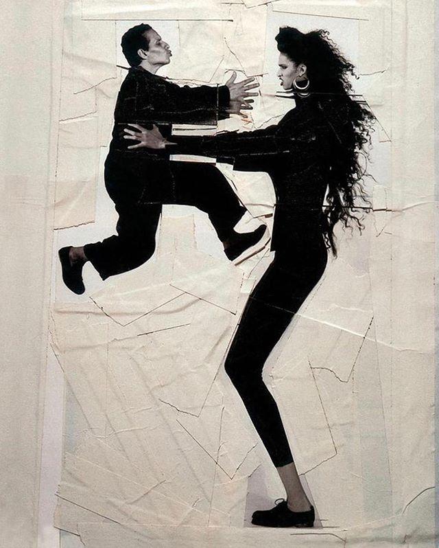 Как жаль... Аззедин Алайя и Фарида Хельфа в объективе Жана-Поля Гуда, 1985. #alaia #faridakhelfa #jeanpaulgoude