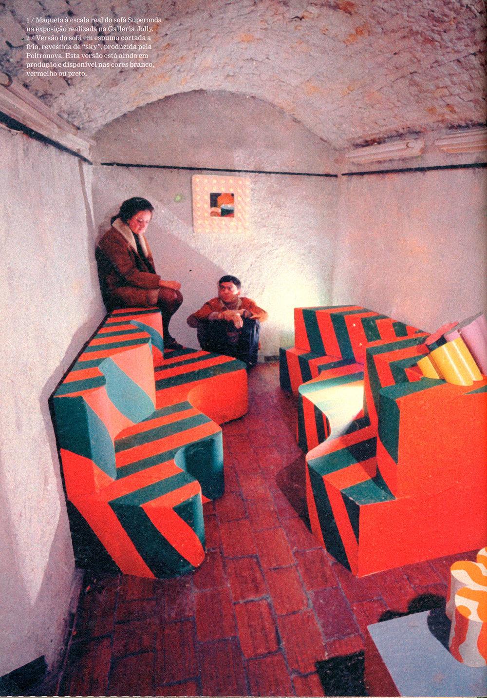 Выставка Superarchitettura в галерее Jolly2, Пистойя, 1966