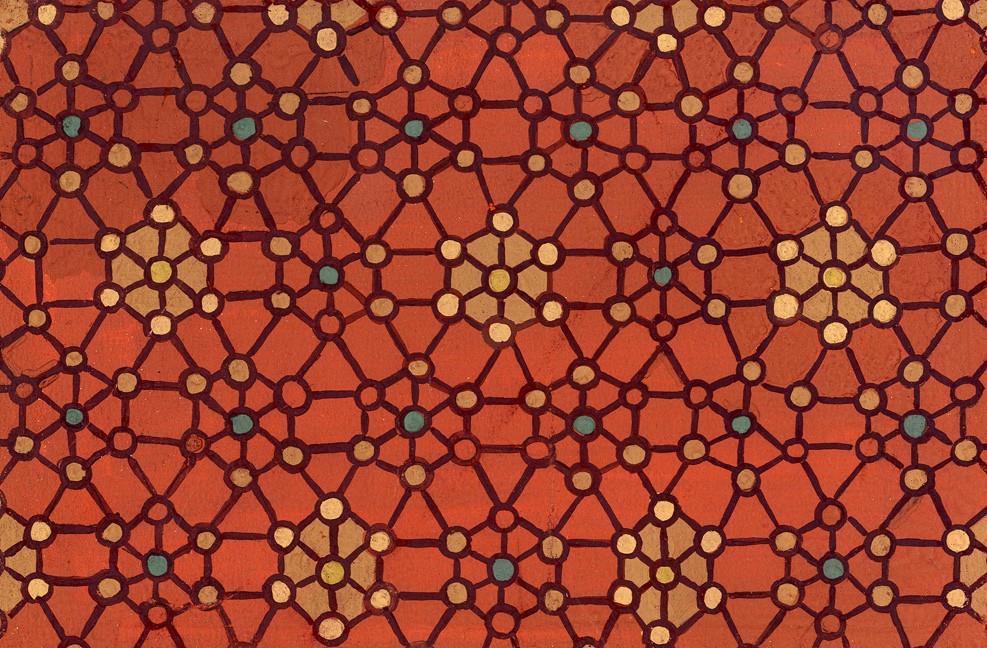 Design Recearch Unit. Орнамент на основе молекулярной структуры слова алюминия и меди. 1946-51