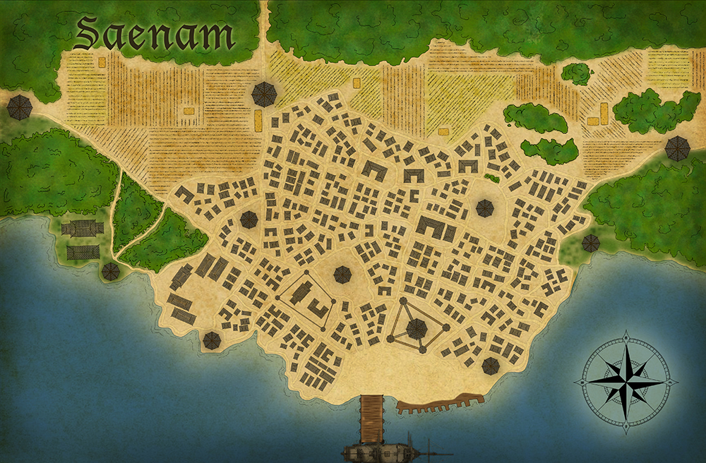 Saenam City Map