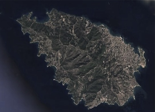 An island in the peloponnese after the fires of 1980-2007