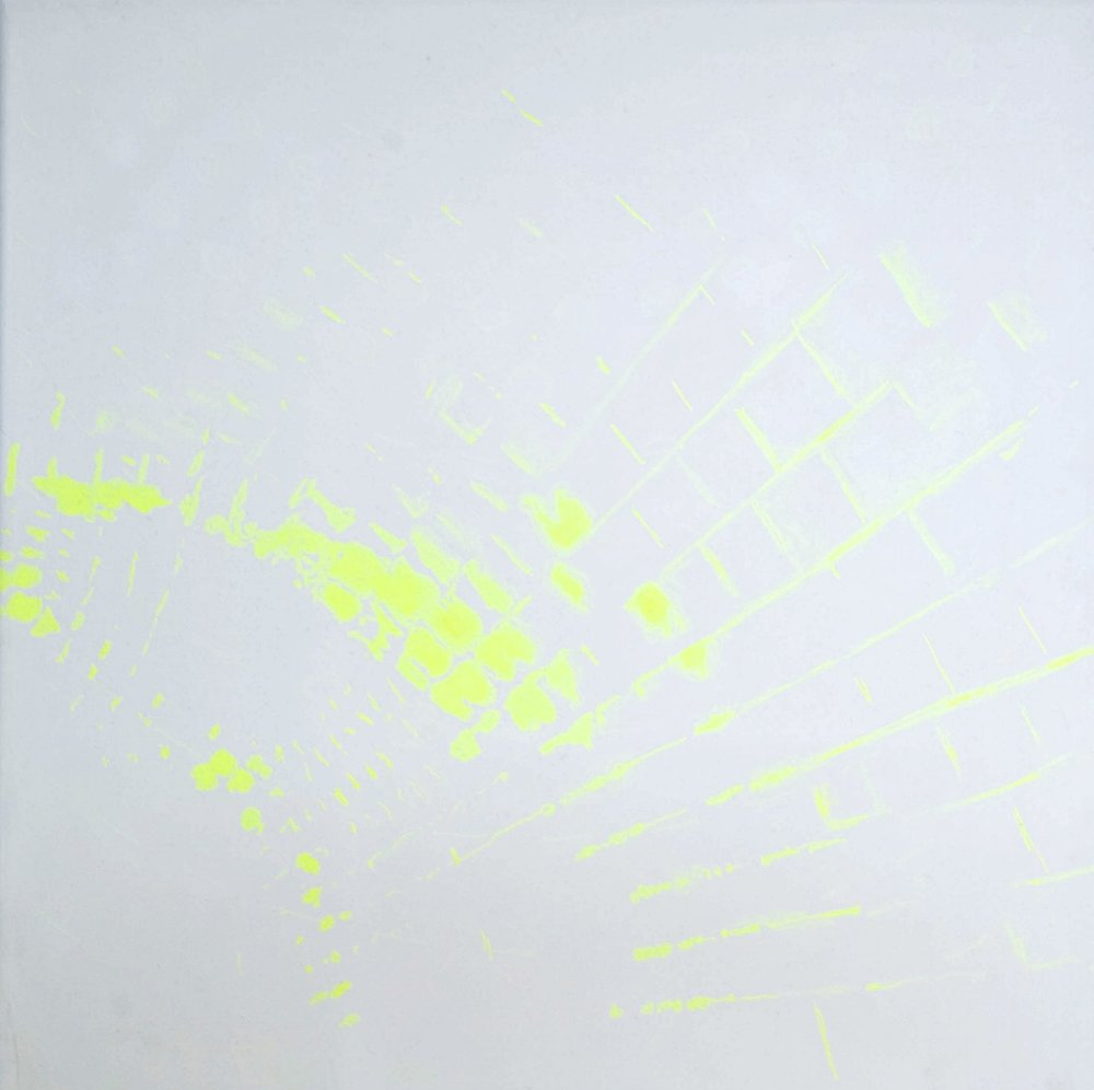 """Several seconds before"", 2009 acrylic on canvas 75x75cm"