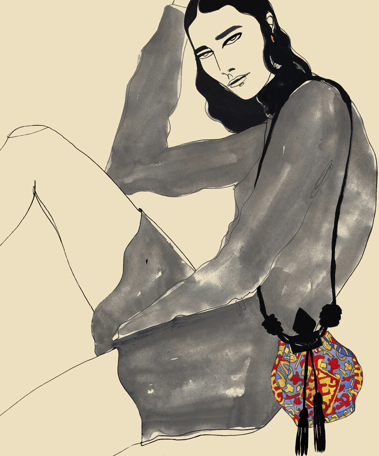Fashion Illustration Of Athletic Purse
