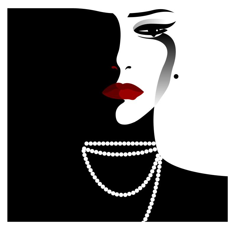 Graphic illustration of woman