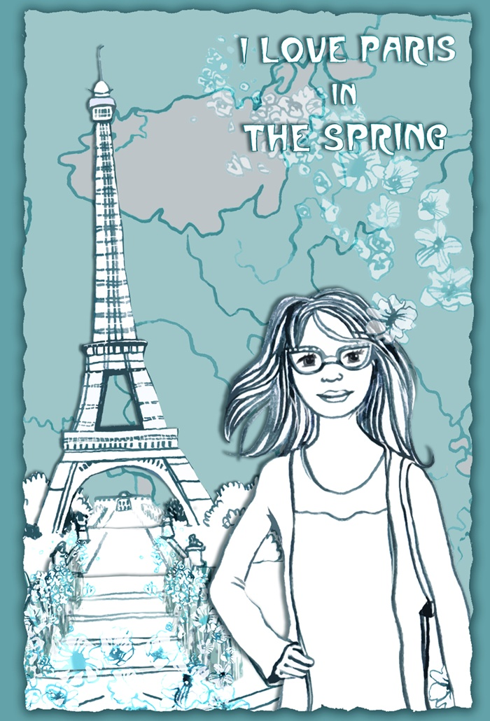 Girl enjoying spring vacation in Paris