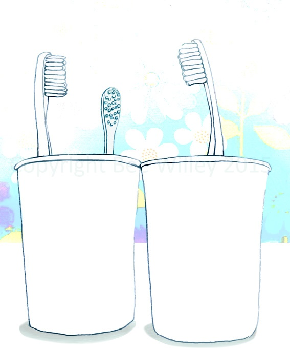 Sketch of tooth-brush stand