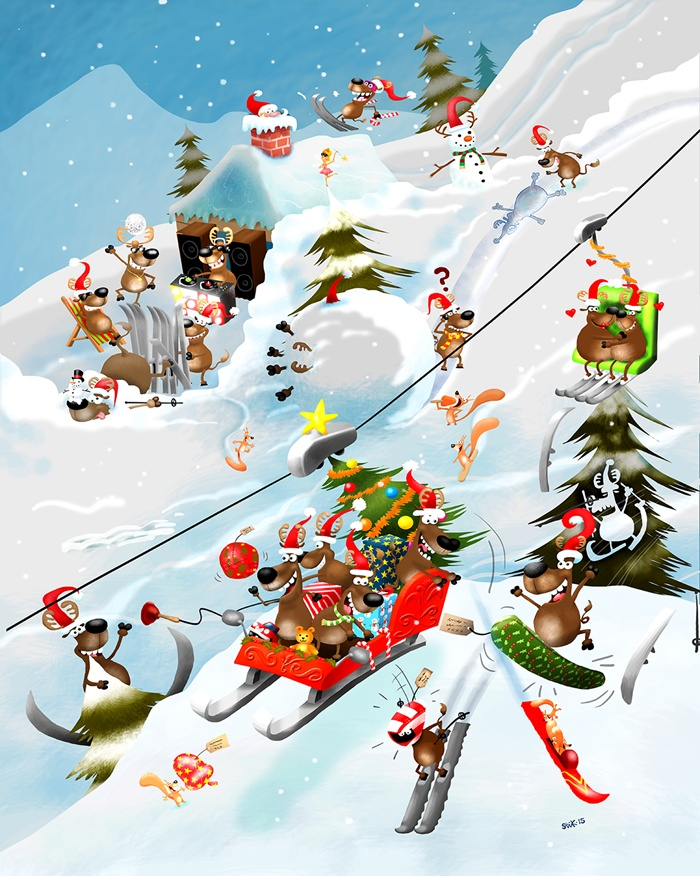 Skiing during christmas holidays