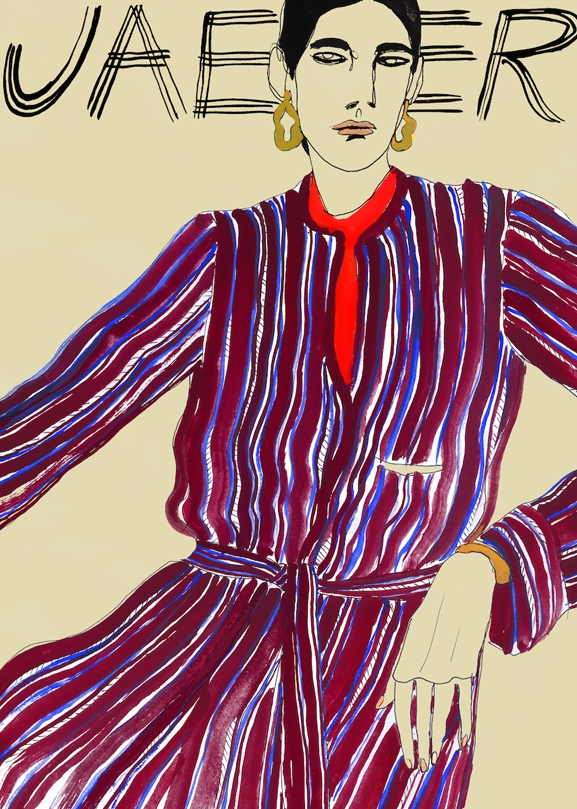 Line Illustration Of Longline Jacket