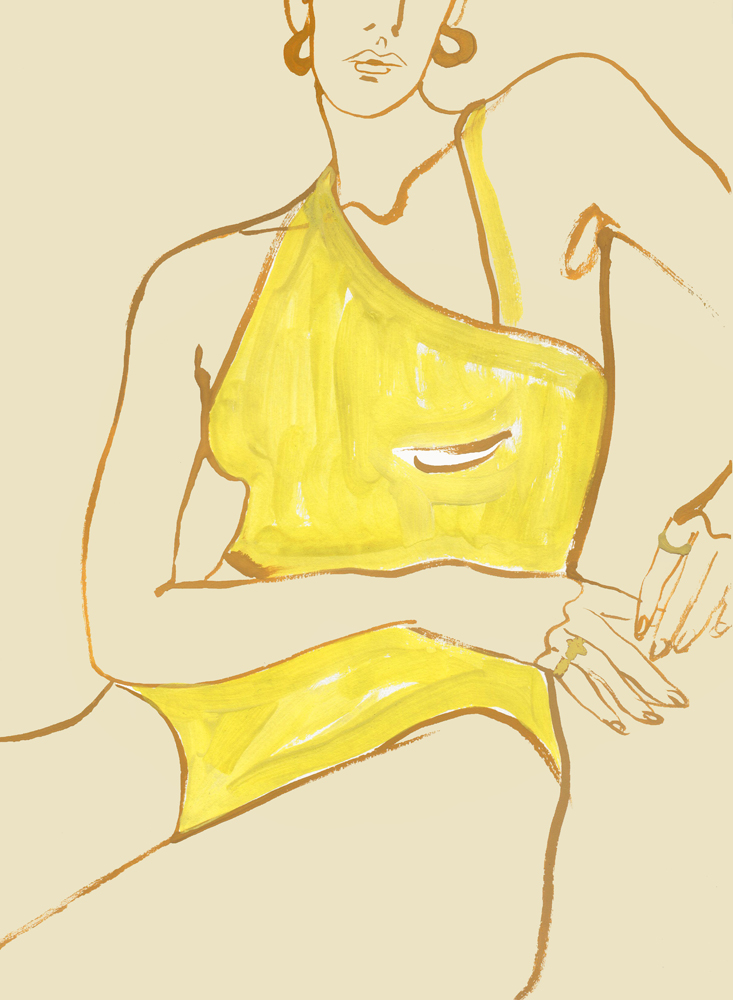 Illustration Of Yellow Swimwear