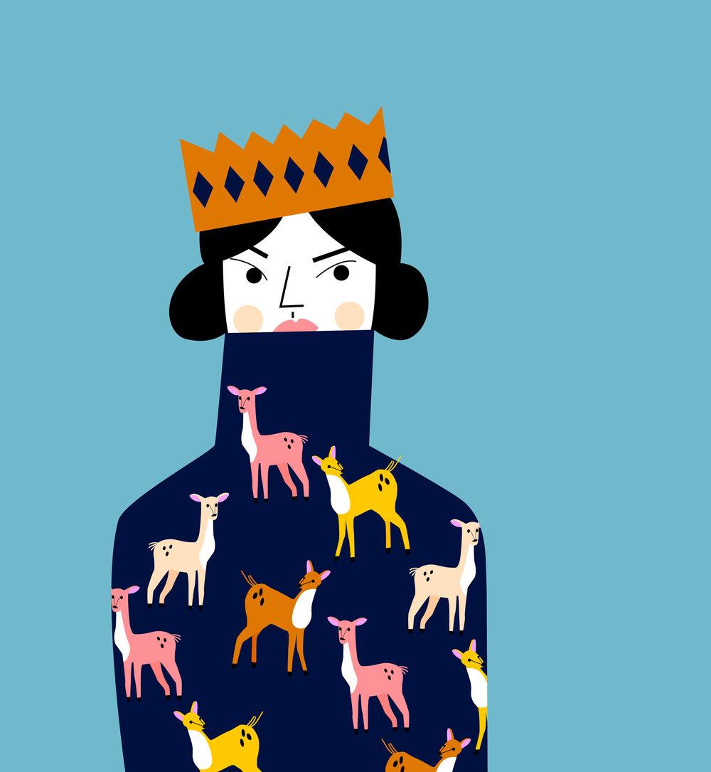 Woman wearing deer tees