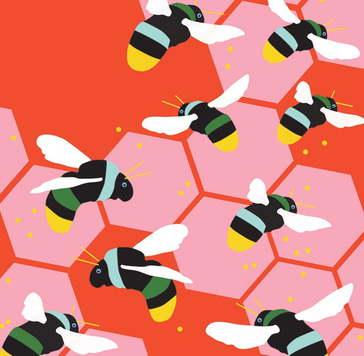 Bees Vector Art