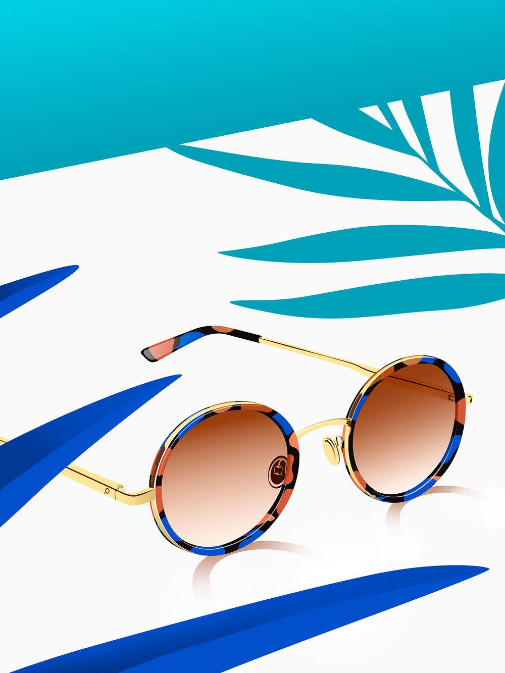 Almagro sunglasses graphic design