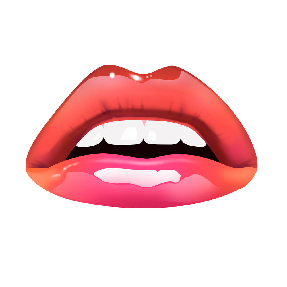 Illustration of glossy lips