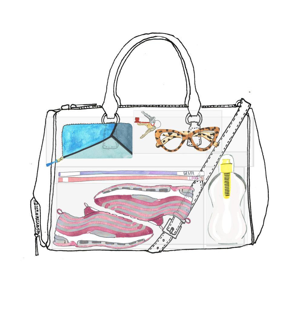 Female handbag illustration