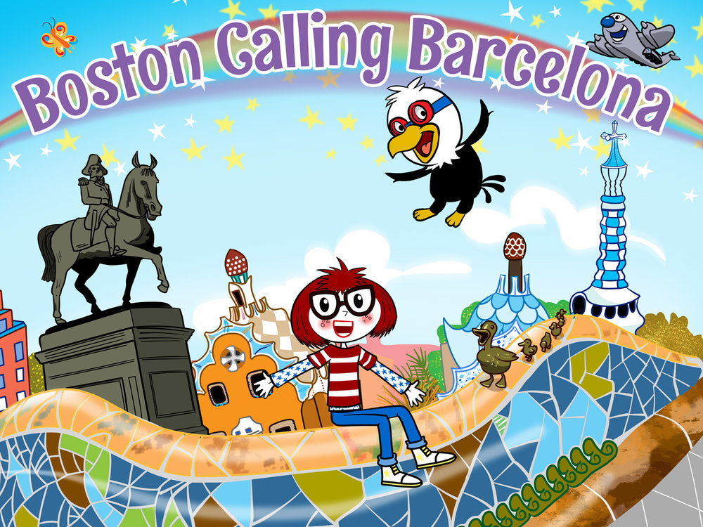 Boston calling barcelona vector art