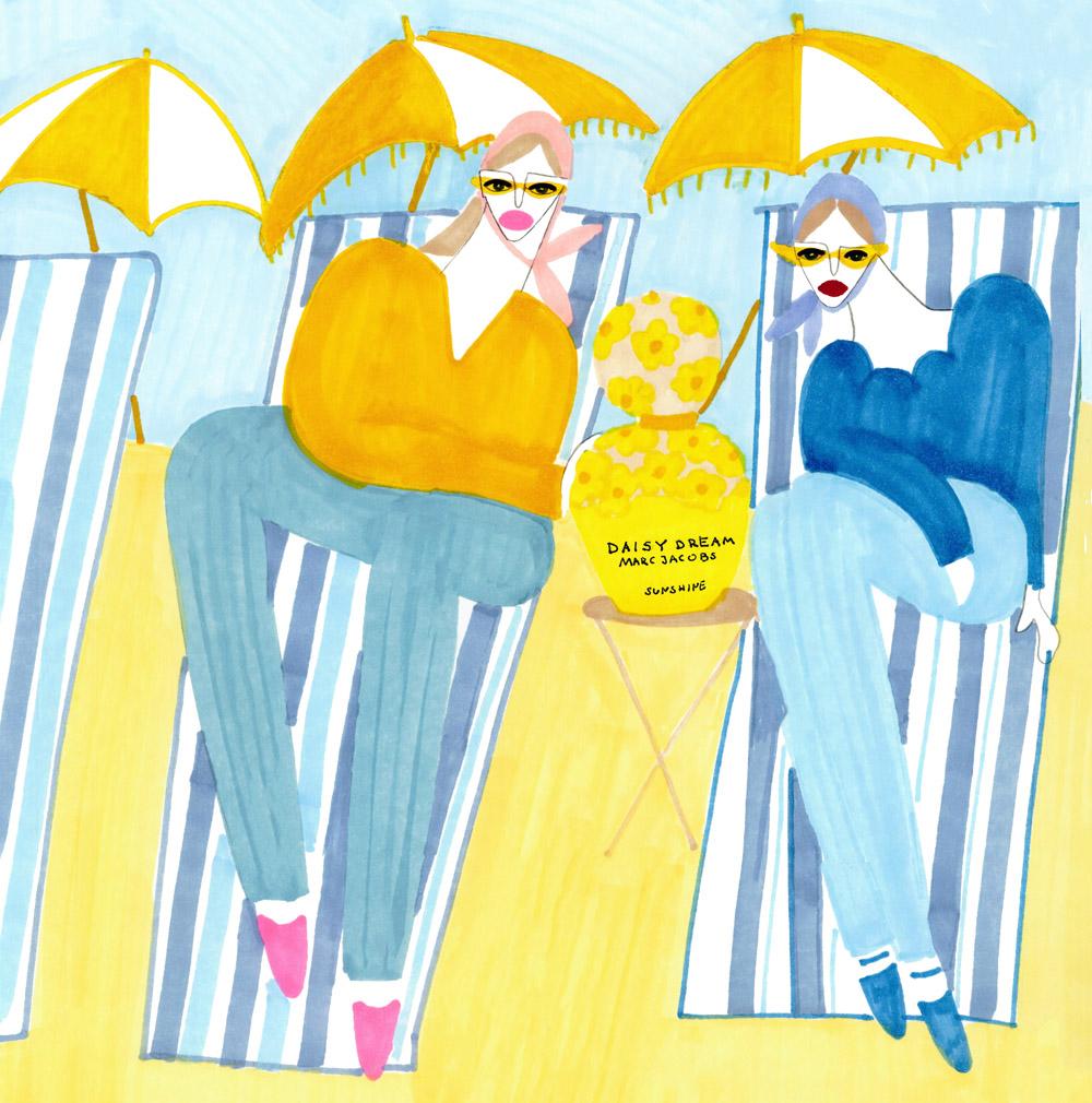 happy girls with happy daisy on the beach.jpg