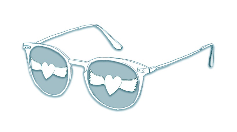 Fancy summer sunglasses drawing