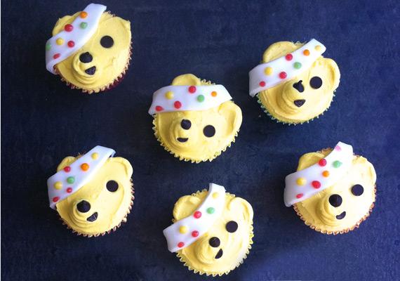 Pudsey cupcake decoration