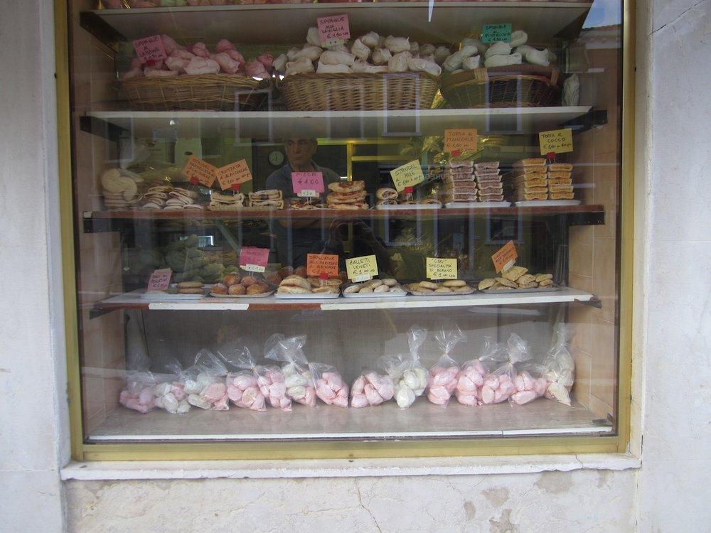 The bakery window, nothing fancy but all good