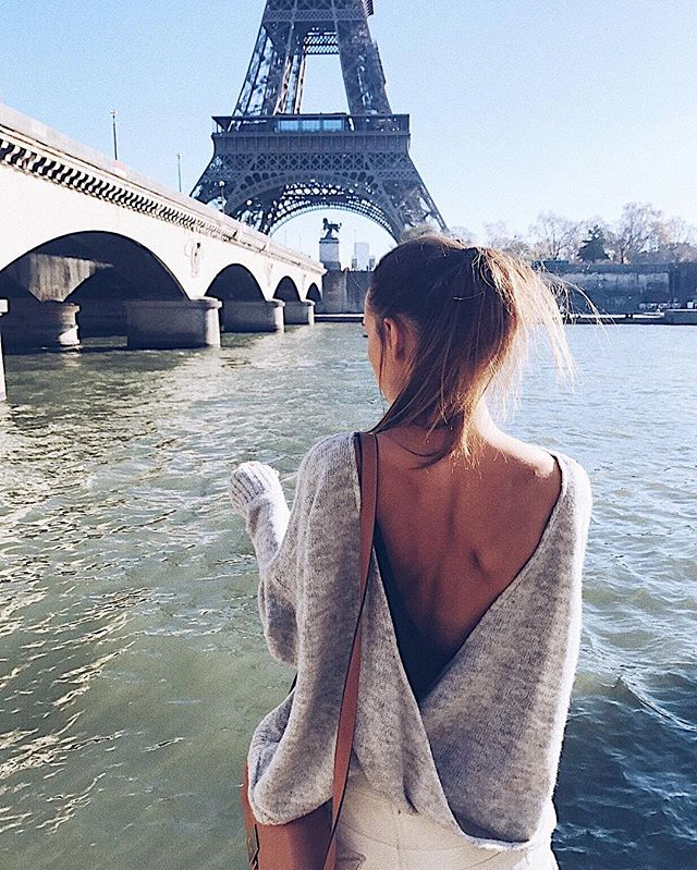 Can't wait for this year's trips & adventures 〰 Travelling is our main inspiration & motivation! At the moment we're working on Spring/Summer pieces so that we're ready just in time for Tulum!! Counting down!! ✔️✔️ #paris #travel #backless #simple #brand #sweater #lessismore