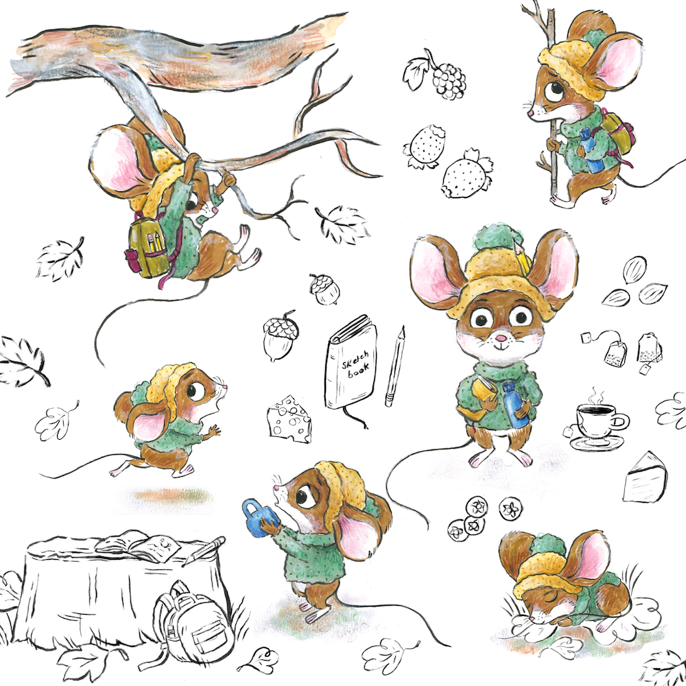 Mouse studies, character design