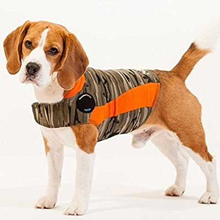 Thundershirt - The original ThunderShirt has the best patented pressure wrap design available. Like swaddling an infant, ThunderShirt is scientifically proven effective to calm anxiety, fear, and over-excitement issues. Easy to use, ThunderShirt is adjustable for just the right pressure to calm your dog. Already calming millions of dogs, ThunderShirt has over an 80% success rate. Use for thunder, fireworks, separation anxiety, travel, vet visits, problem barking, reactivity, and much, much more. Great for rescue dogs. NO TRAINING REQUIRED. COMFORTABLE FIT FOR YOUR DOG. Made of machine washable, soft, breathable fabric. We offer a MONEY-BACK GUARANTEE: If ThunderShirt does not work, return it for a refund of your purchase price.