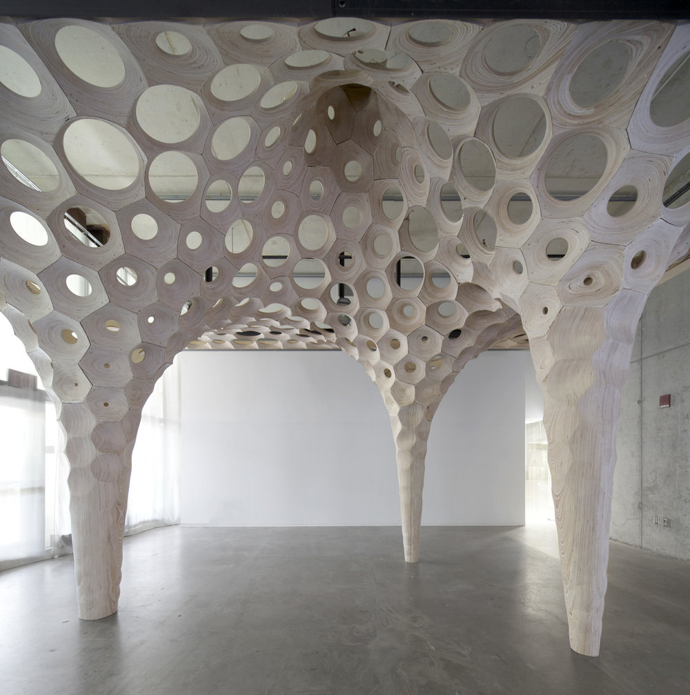 """La Voute de Lefevre – Installation at Knowlton School of Architecture by Matter Design, Brandon Clifford and Wes Mcgee"""