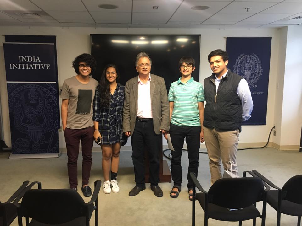 Ramachandra Guha with the Students on the Editorial Board of India Ink