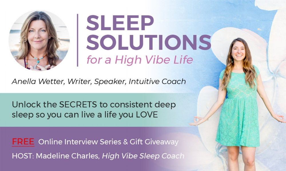 Sleep? Deep sleep? Anella shares with  Madeline Charles  about how sleep makes a difference for her--greater energy, greater focus, and greater peace.