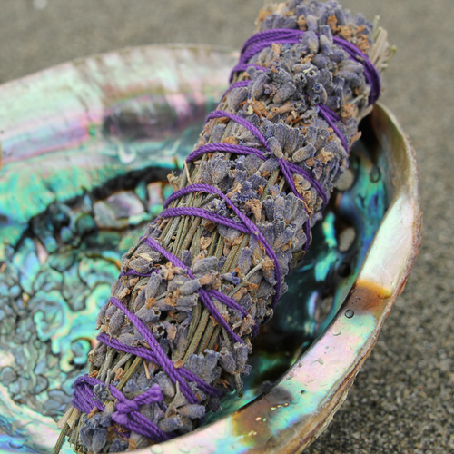 Photo from  The Hoodwitch . This  lavender smudge stick  from The Hoodwitch smells good and invites peace and harmony into your home.