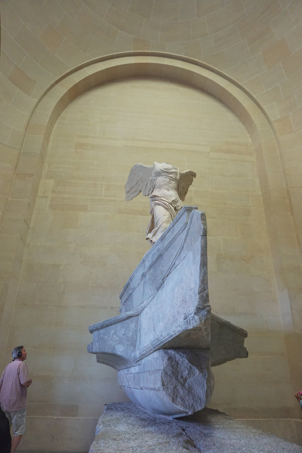 The Winged Victory of Samothrace, which dominates an enormous hallway