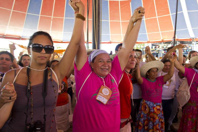 Plenária das mulheres no III Encontro Nacional de Agroecologia (Foto: Fábio Café)