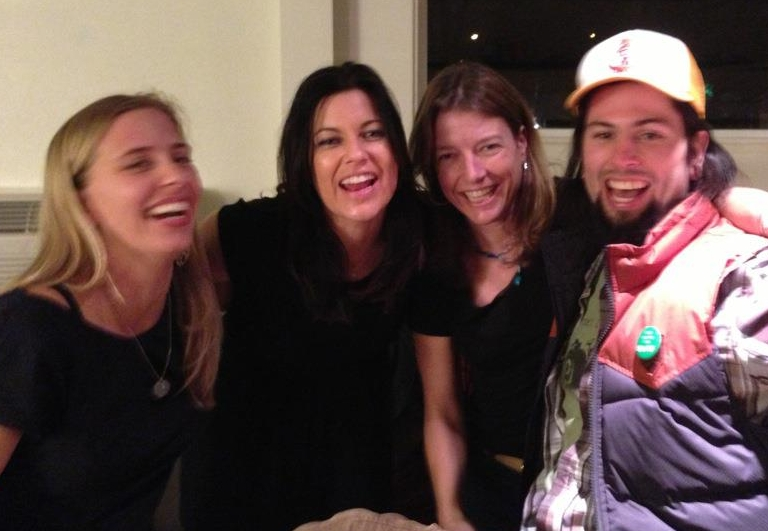 Having way too much fun post-show with Tristan Prettyman, Jill Crimmins, and Paul Cannon at the Doug Fir.