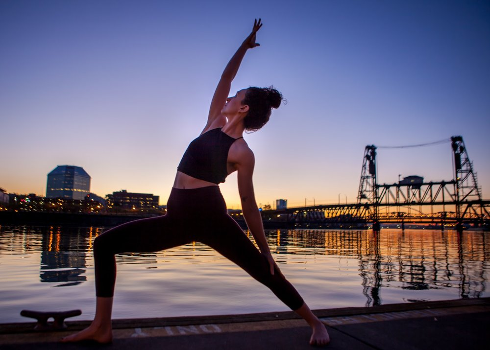 (Yoga in Portland, OR - my home, and favorite city!)