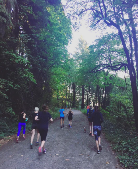 Flex & Flow Run Club meets every Saturday morning in Portland, OR to run on road or trails!