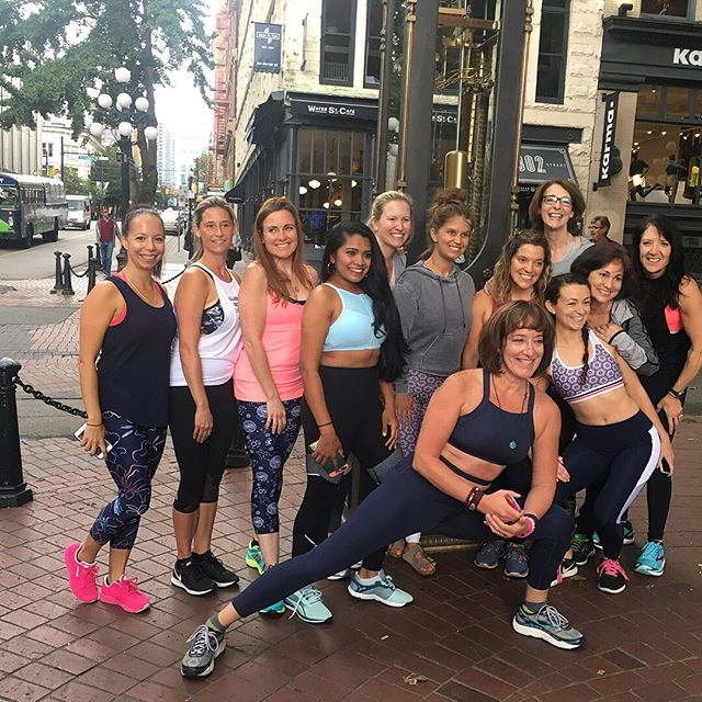 Fashion, pink drinks, murals, and yoga. Day 2 of #EMPOWERRetreat was so amazing!! We styled, we went on a scavenger hunt all over the city, and had a blast! Tomorrow we get even sweatier with @gixofit and all the @flexandflow yoga!  #movenourishbelieve #sweatpink #flexandflow #vancouver #gixofit #iamempowered