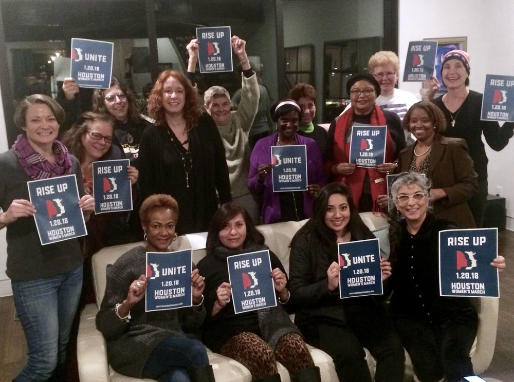December 2017 - Here are some of the awesome Wonder Women planning the 2018 Women's March in Houston!