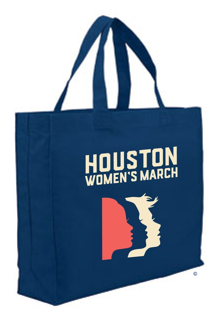 c156d786b71 Navy Tote Bag — Houston Women March On