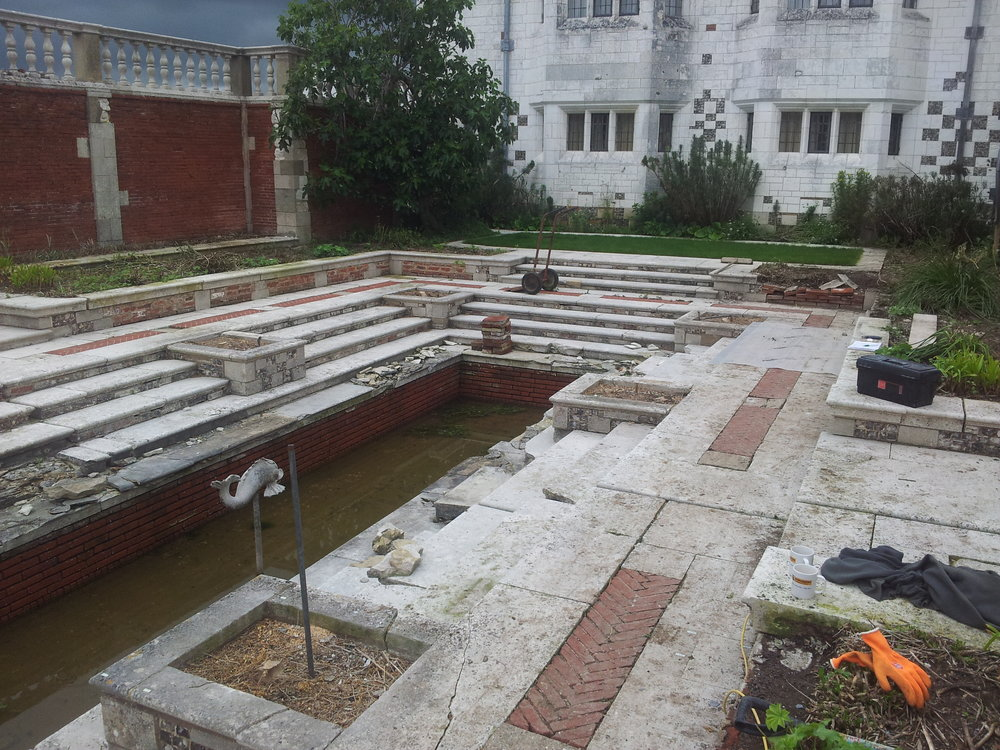 Gertrude Jekyll's sunken garden, Marshcourt, Hampshire