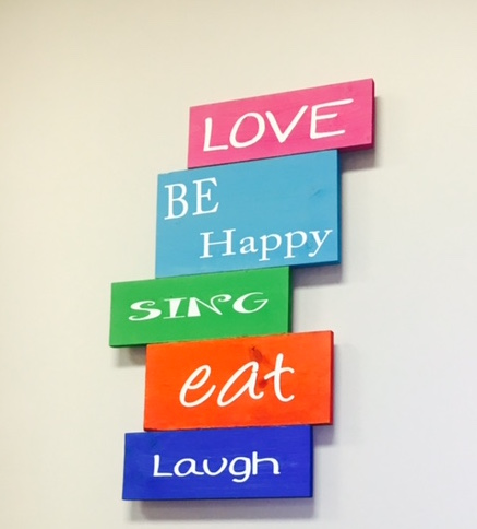 Staggered Phrase Board - $55.00 each
