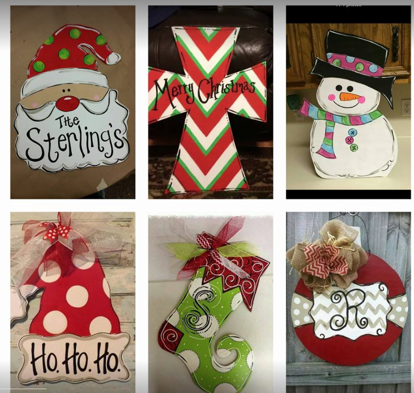 Christmas Door Hangers - $35 -$45 various sizes and shapes available (just ask us)