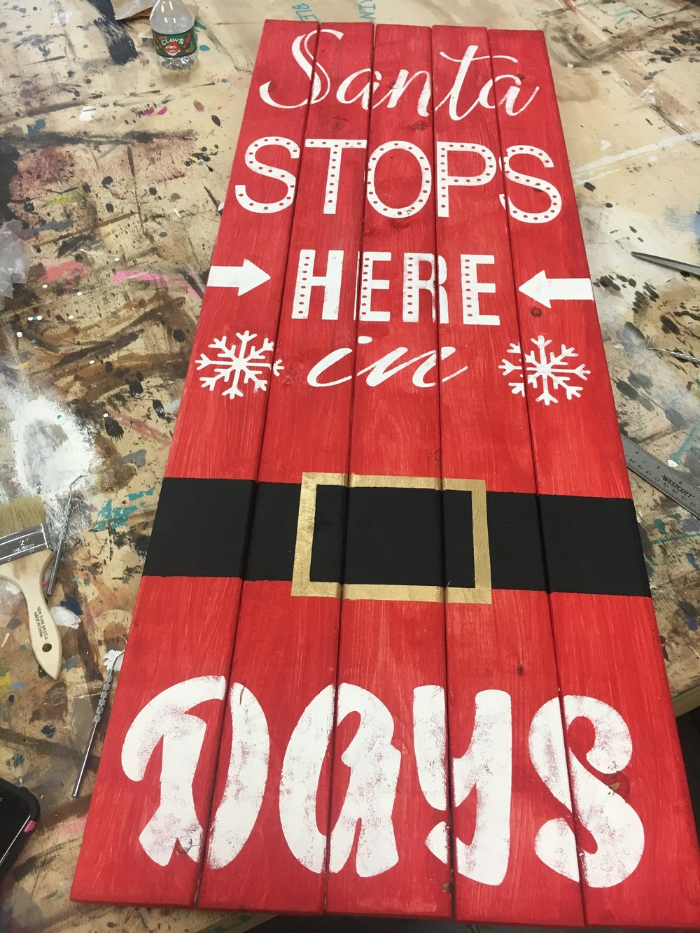 Christmas Countdown Pallet - various designs available (Pictured is a long pallet 48x14 at $55)