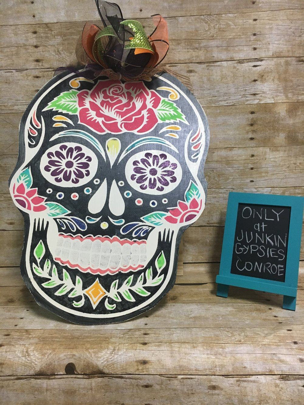 Sugar Skull Door Hanger -$35