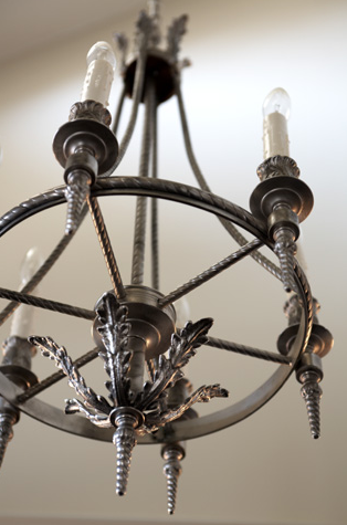 Model No. 2002 - Cordova Chandelier in Pewter Finish. (Photo courtesy of  Postcard From Paris , Greenville SC)
