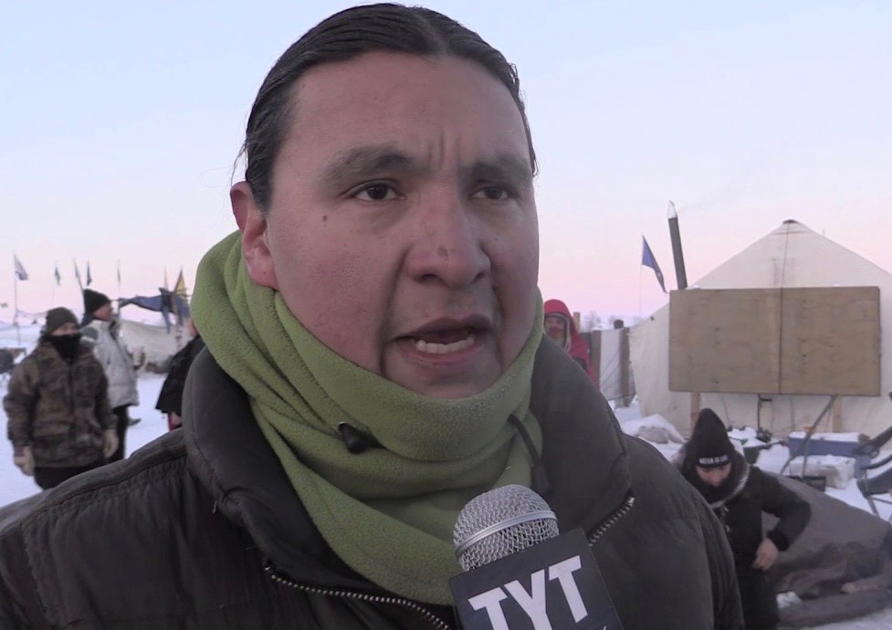 Chase Iron Eyes at Oceti Sakowin Camp December 4, 2016 (photo: The Young Turks)