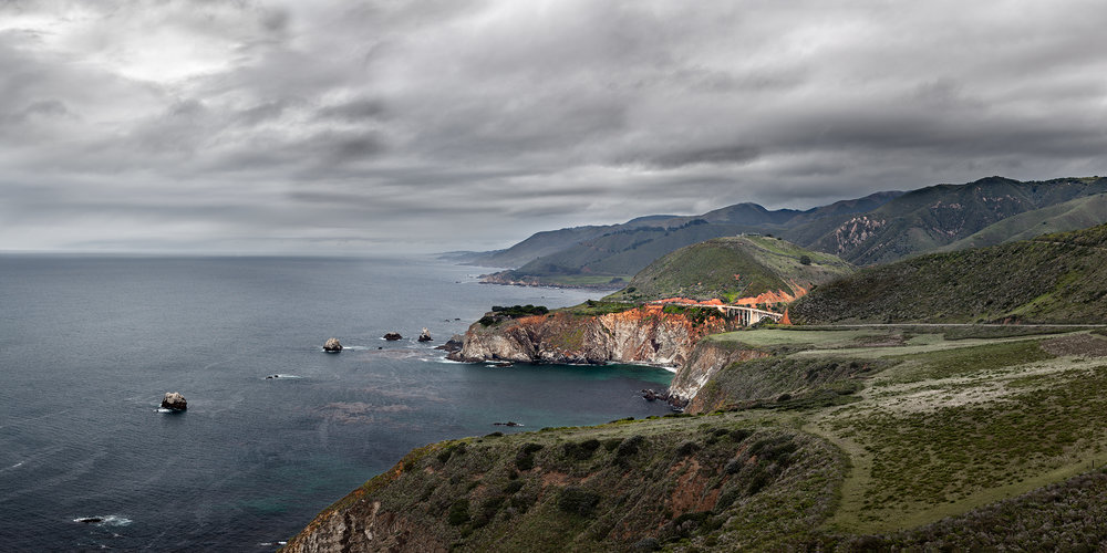 Bixby Bridge from Hurricane Point  - Big Sur (8012-17)