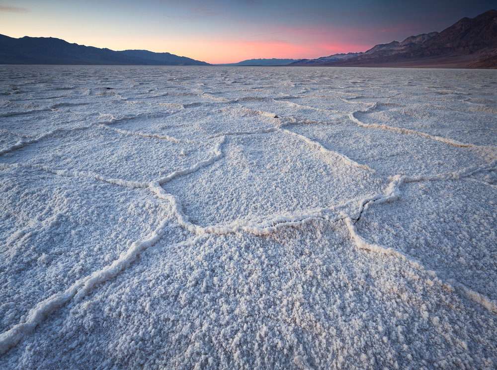 Salt Flats Evening - Badwater (1137-39)