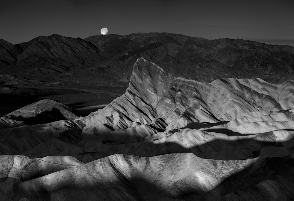 Sunrise & Moonset - Zabriskie Point (1282-84)